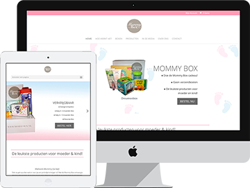 Mommybox-Webdesign